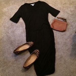 Motherhood black body con dress size small